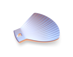 3D print model Shell Plate with heart