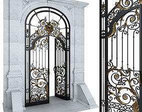 Entry door gate 3D