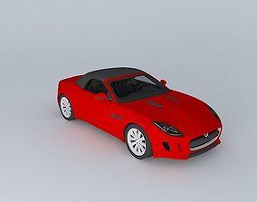 2014 Jaguar F-Type V6 Roof up 3D model