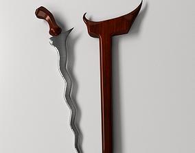 Keris Dagger 3D