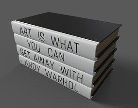 3D model Art Quote Stack 4 Piece Decorative Book Set