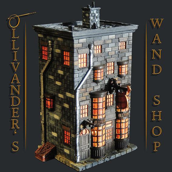Ollivander's Wand Shop 3D Print Model - Harry Potter
