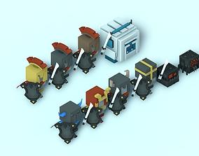 Low Poly Warriors 3D model