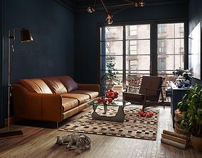 3D model Scandinavian Style Living Room