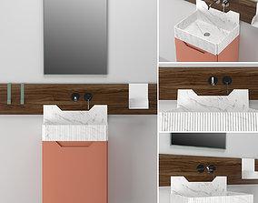 Bathroom Furniture Ext FRIEZE TWO CABINET 3D