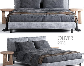 3D Bed Meridiani Oliver