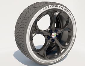 3D model Alfa Romeo Wheel Mesh