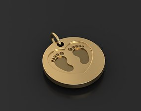 3D print model symbolic pendant for the birth of a child