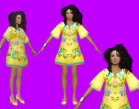 Tatiana Thumbtzen PBR Animated Beautiful Girl 3D asset