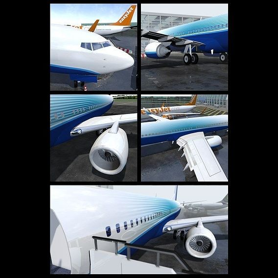 Now on sale! Boeing 737-800 With Cockpit and Interior
