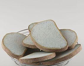 Basket bread 01 hamburger 3D