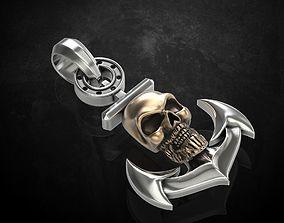 Pendant skull at anchor 317 3D print model