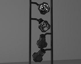 3D asset DECORATIVE LAMPS - LOW-POLY