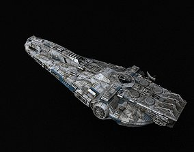 3D model rigged Star Wars YT-1860 class - freighter