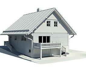 wood Cottage 3D