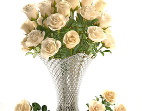 3D model Bouquet of white roses