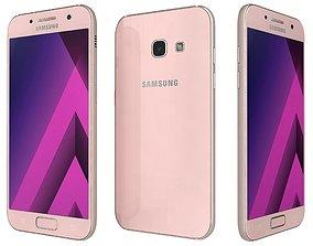 3D Samsung Galaxy A3 2017 Peach Cloud