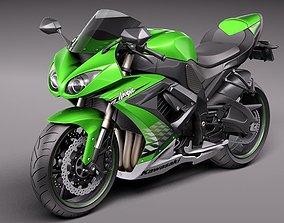 Kawasaki Ninja ZX-6R 2009 Motorcycle 3D model