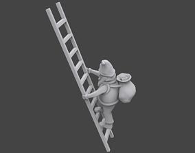 3D print model Santa on ladder tree