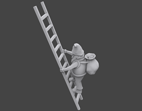 3D print model Santa on ladder tree