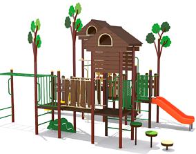Playground Tree Playhouse 3D model