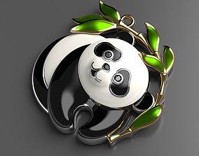 Panda enamel pendant 3D print model