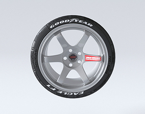 Volk Racing Wheels TE37 and Tires 3D print