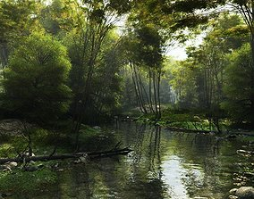 Shady brook in Vue 3D model