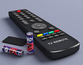 Remote Controller and Battrey 3D model