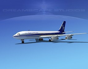 3D model Boeing 707 Cyprus Airways