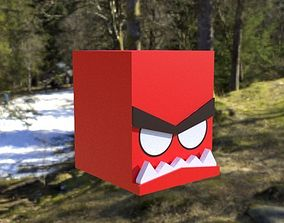 game-ready Cubic Angry Character GAME ASSET