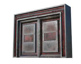 Old steel door 3D asset