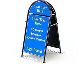 3D model Street Sign Round Form