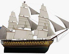 Sail Vessel Le Montebello - 1850 3D