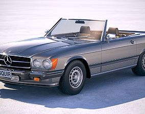 3D model Mercedes SL USA r107 1981