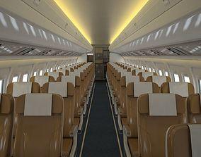 3D asset Airplane Cabin V2