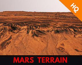 Mars Planet Landscape Desert Terrain Valley 3D asset 3