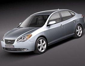 3D model Hyundai Elantra 2010