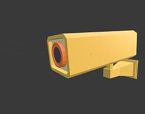 3D asset Low poly Security Camera