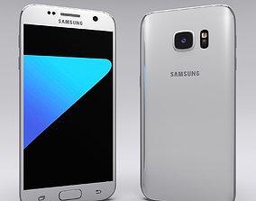 Samsung Galaxy S7 White 3D asset