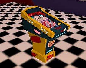 3D model Low poly retro arcade machine