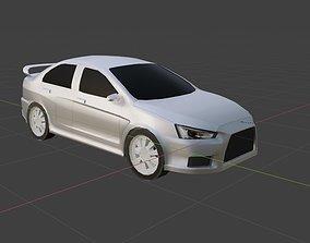 Modified Lancer Evo X low poly 3D asset