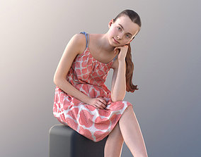 3D model game-ready Mady 10112 - Sitting Casual Girl
