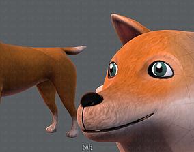 3D model game-ready Dog base cartoonV05