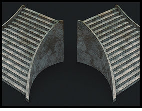 Stone Stair Low Polygon PBR 3D asset