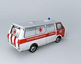 Old russian ambulance van RAF 3D