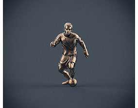 Soccer football player 3D printable model toy