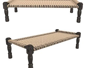 3D model Restoration Hardware WOVEN INDIAN CHARPOY BENCH