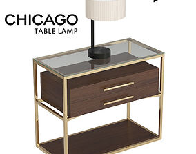 3D asset Chicago Table Lamp
