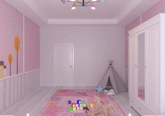 Baby Twins Girl Bedroom Interior